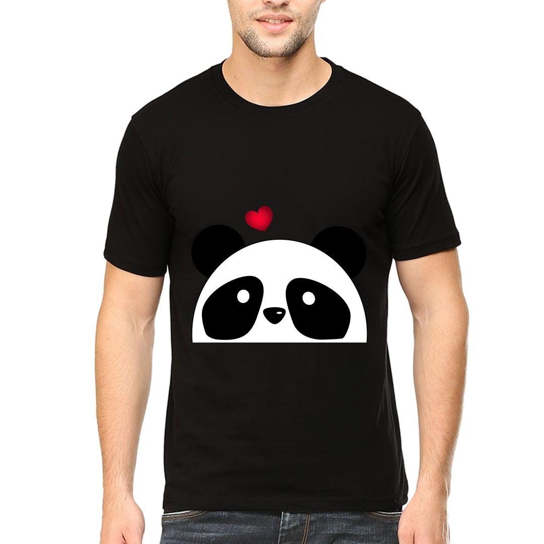 5fdf628a Panda Love Men T Shirt Black Front.jpg