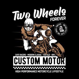 88011380 two wheels forever black