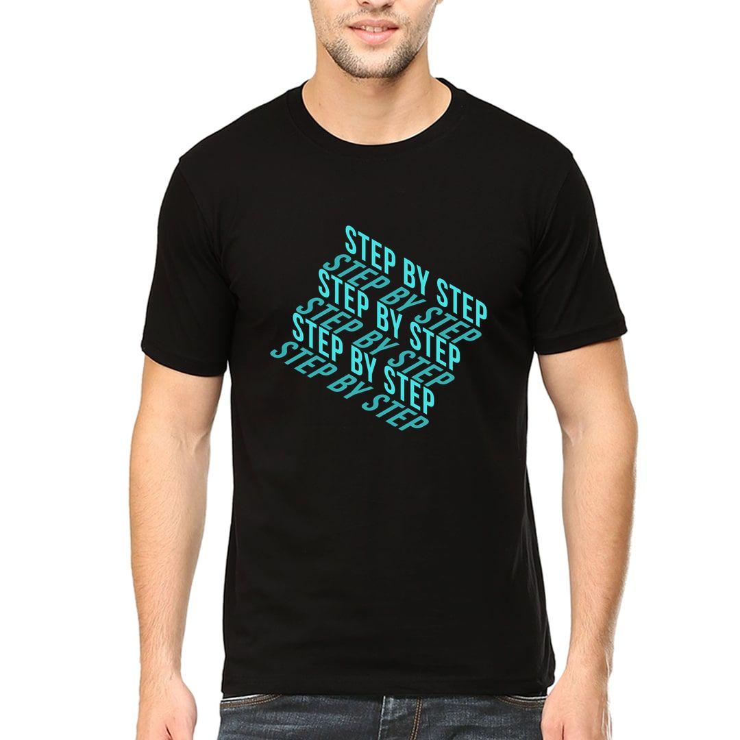 9b5d1079 Step By Step Men T Shirt Black Front.jpg