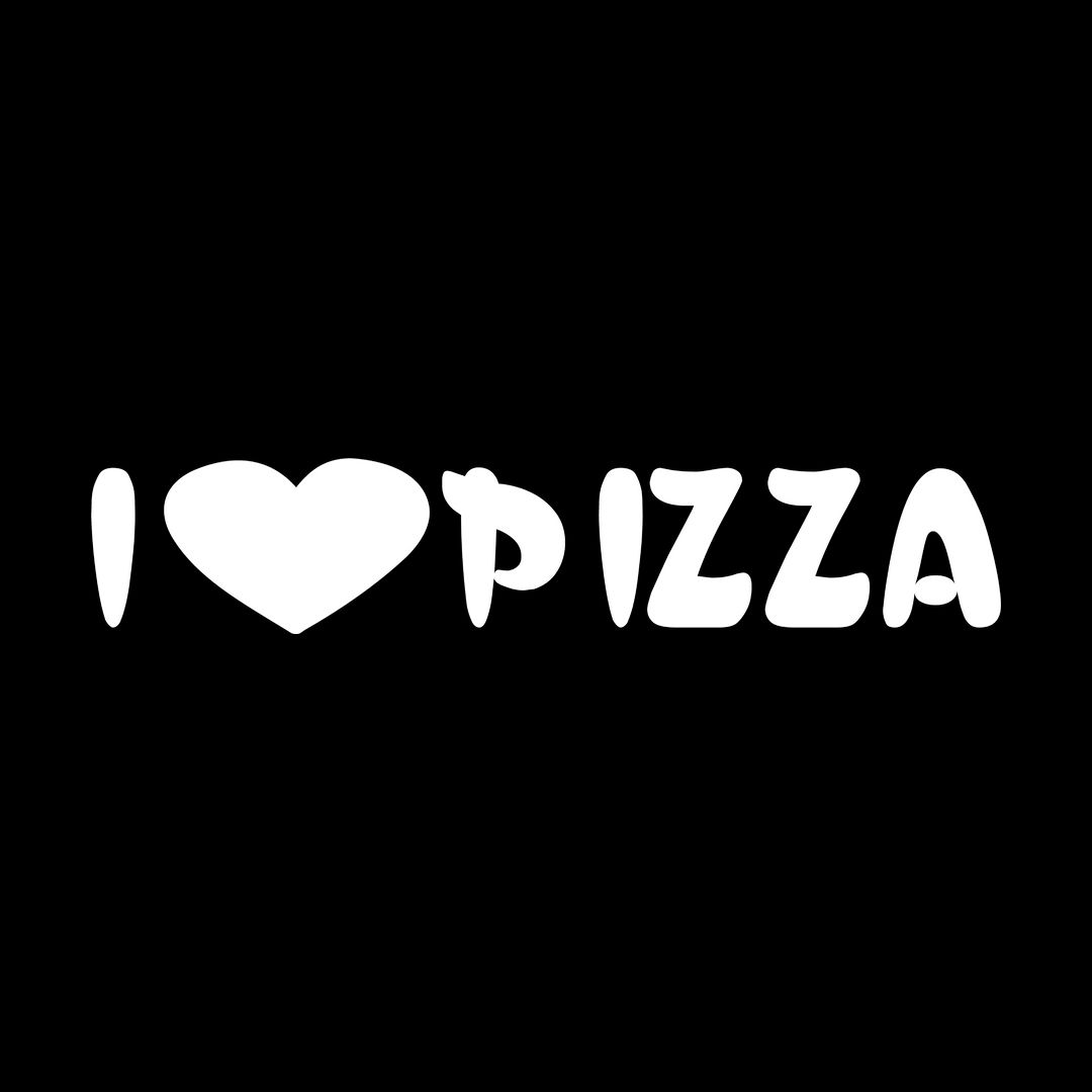 C723404d I Love Pizza T Shirt Black