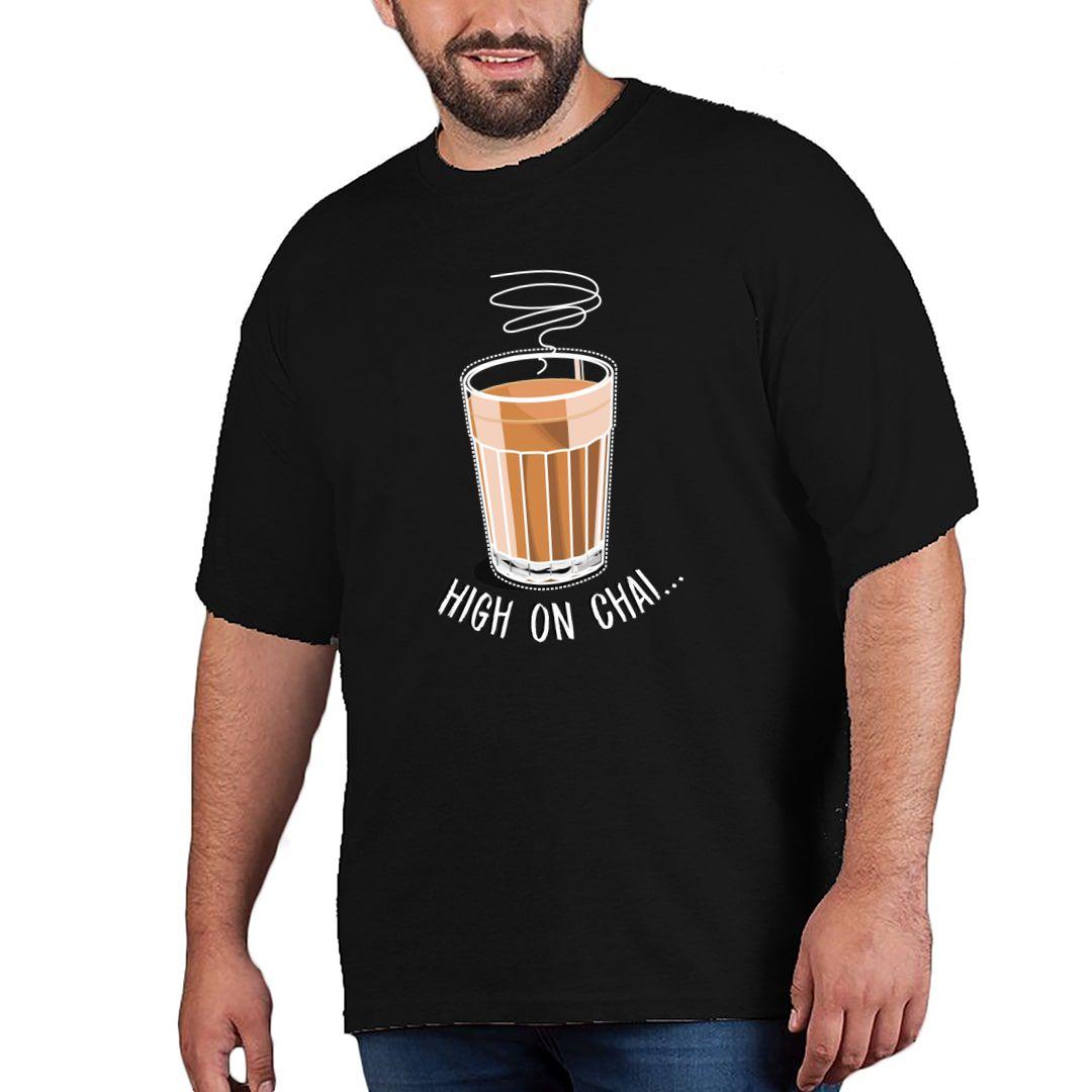 Cd447dcf High On Chai Plus Size T Shirt Black Front.jpg