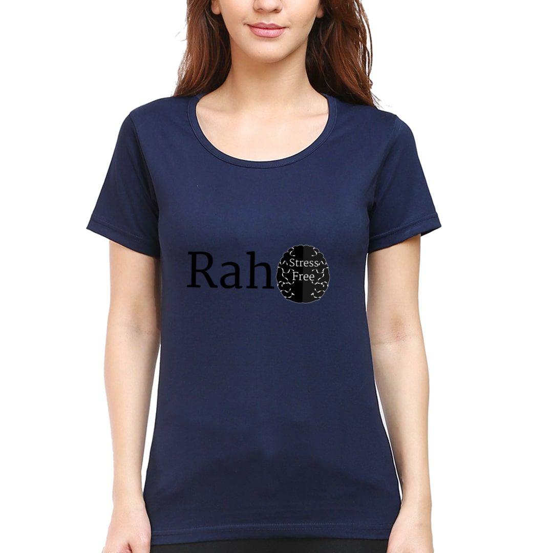 D28cb9b7 Raho Stress Free Women T Shirt Navy Front.jpg
