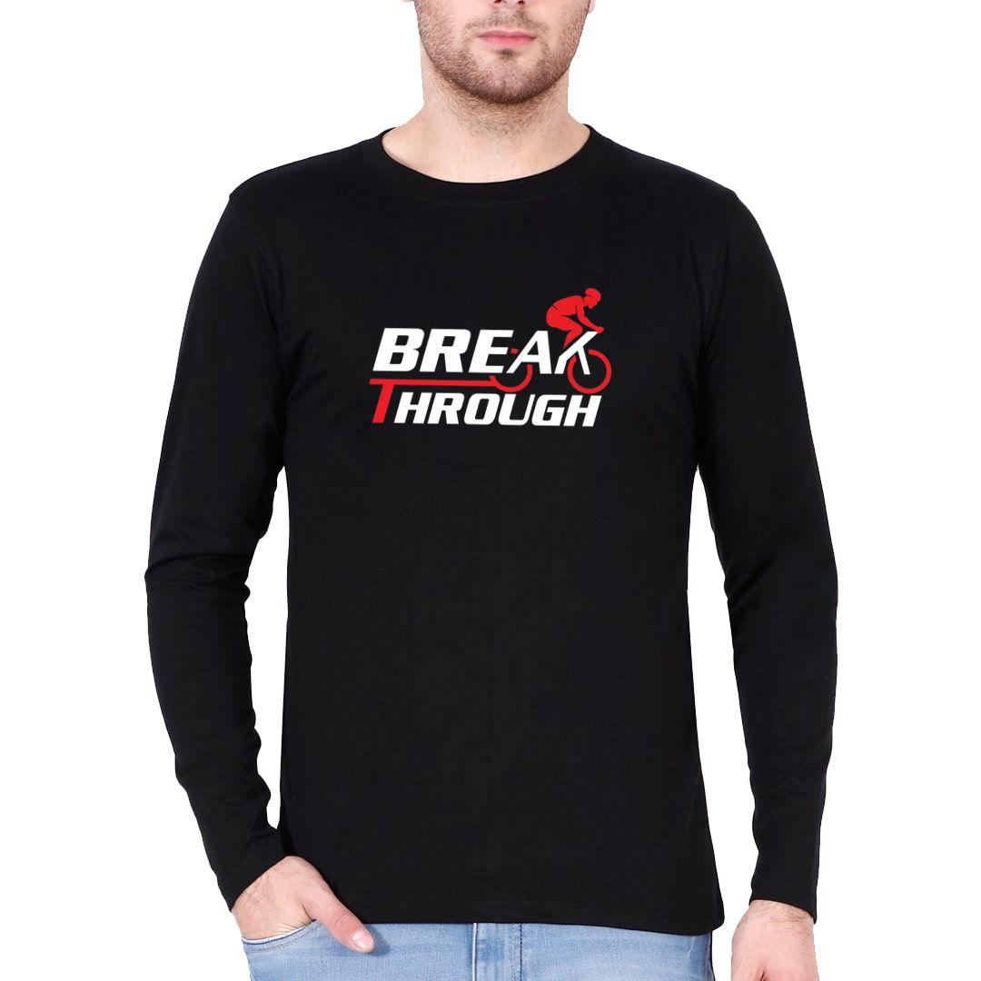 D57dd863 Break Through Full Sleeve Men T Shirt Black Front.jpg