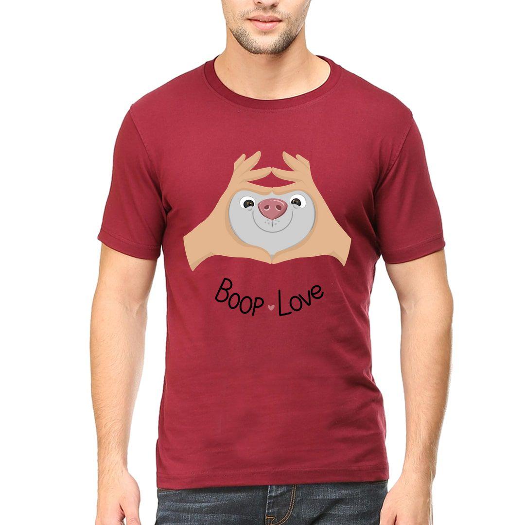 E3613eed Boop Love Men T Shirt Maroon Front.jpg