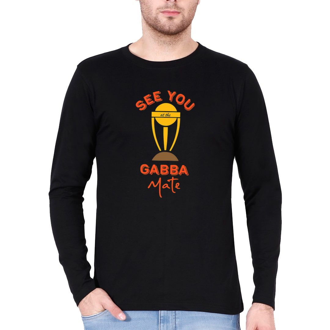 F270615c See You At The Gabba Mate Funny Cricket Full Sleeve Men T Shirt Black Front.jpg