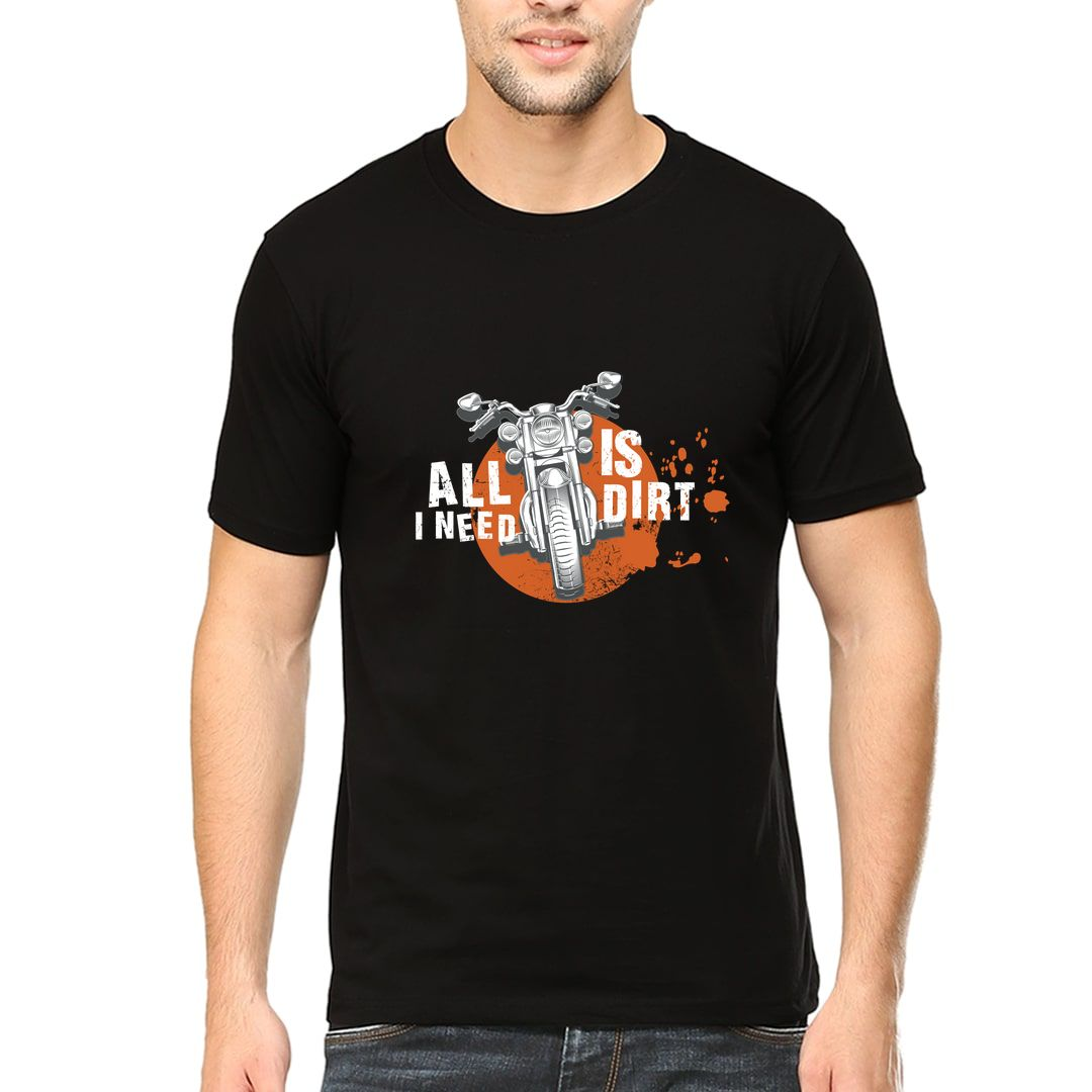 0f408760 All Is I Need Dirt Men T Shirt Black Front