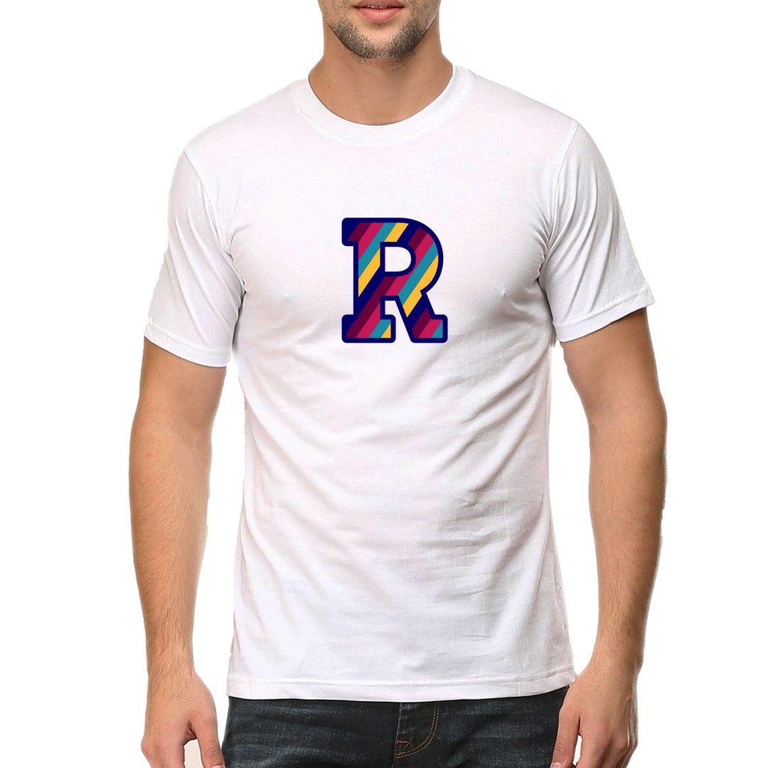 1c4855d7 R Alphabet Men T Shirt White Front