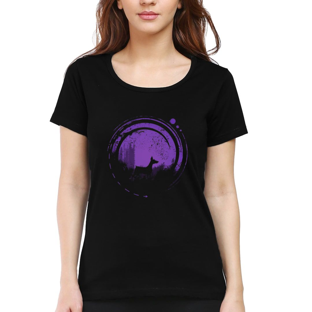 1f7e7725 Dog In Wonderland Women T Shirt Black Front