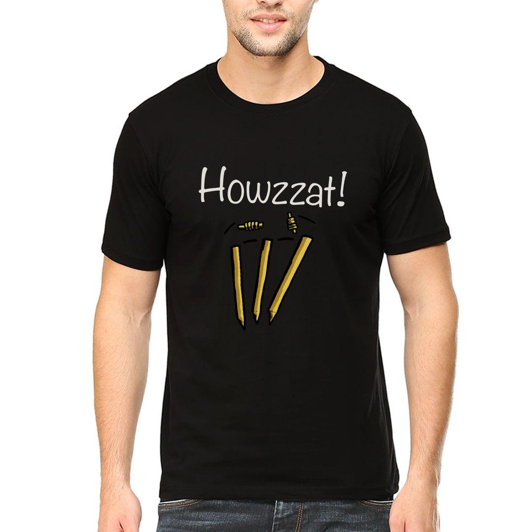 7d18ece5 Howzzat Men T Shirt Black Front