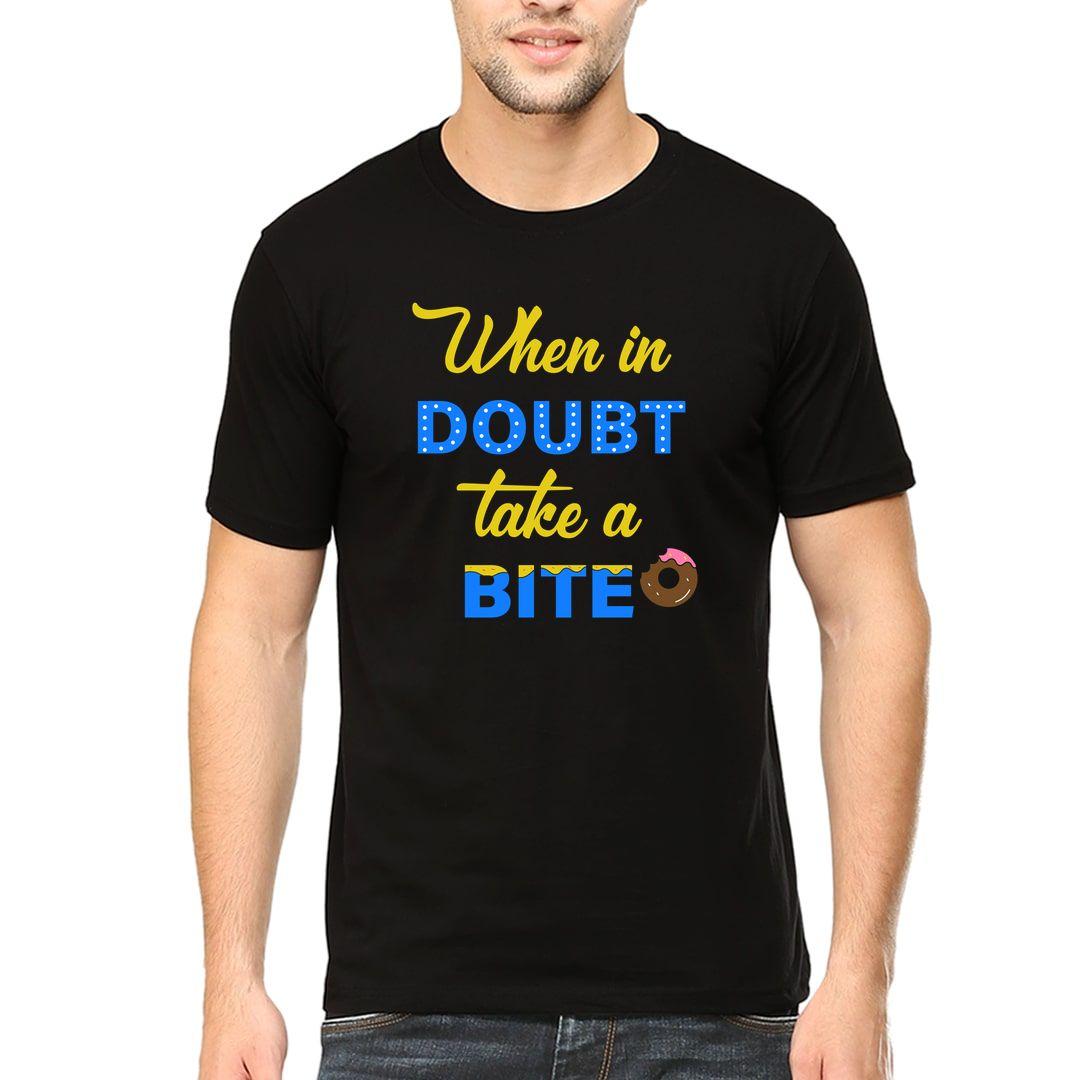 C3457614 When In Doubt Take A Bite Men T Shirt Black Front