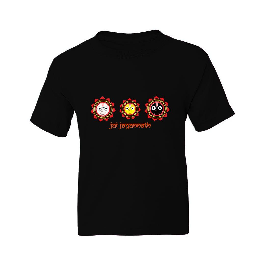 Cc0d2df6 Jai Jagannath Kids T Shirt Black Front