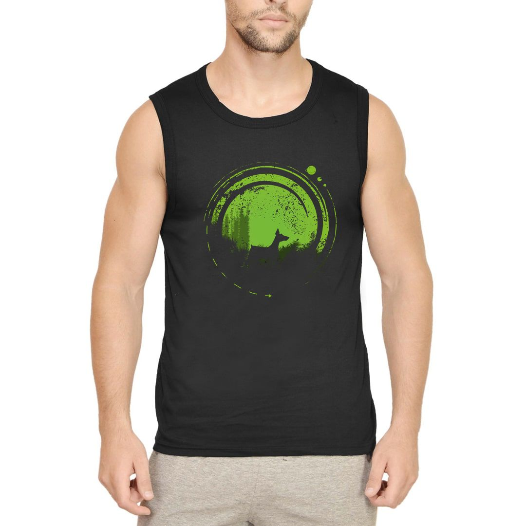 F3ae2bf6 Dog In Wonderland Men Sleeveless T Shirt Vest Black Front