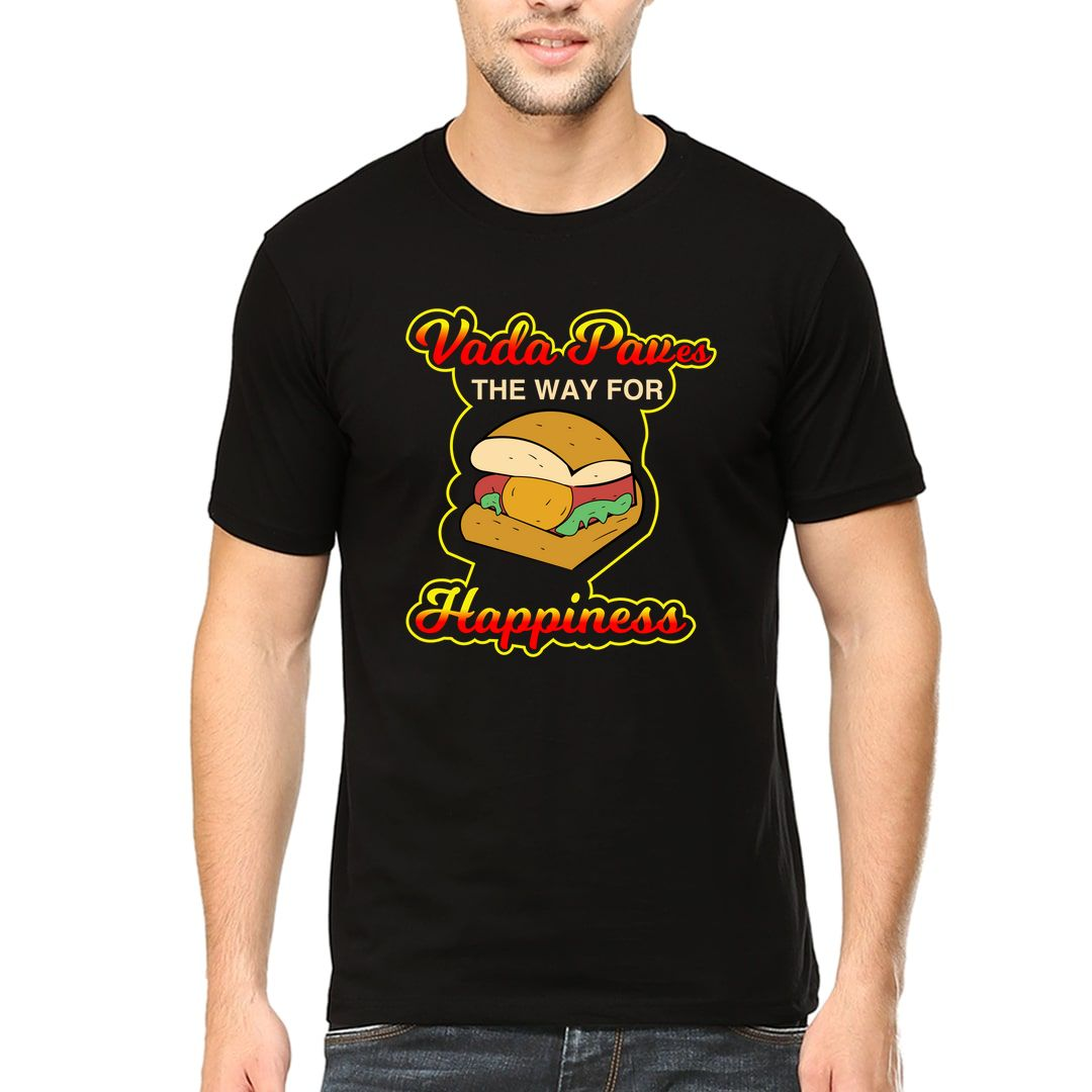 Faab253f A Vada Paves The Way For Happiness Men T Shirt Black Front