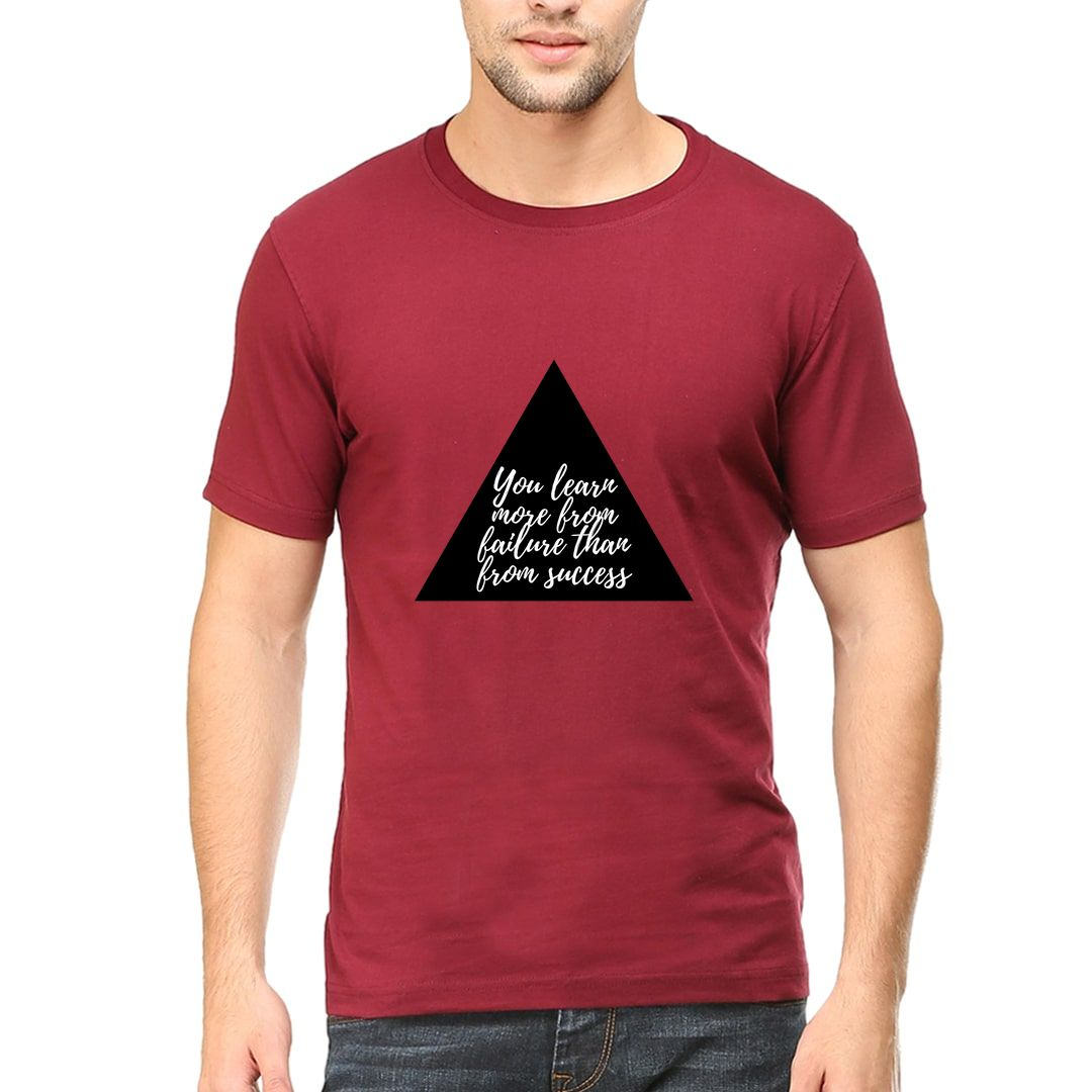 0a5fc2ea You Learn More From Failure Than From Success Men T Shirt Maroon Front