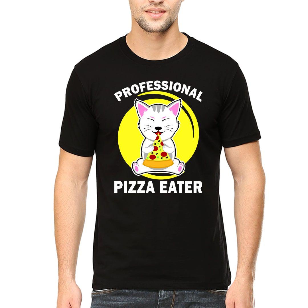 1864d0e8 Professional Pizza Eater Men T Shirt Black Front