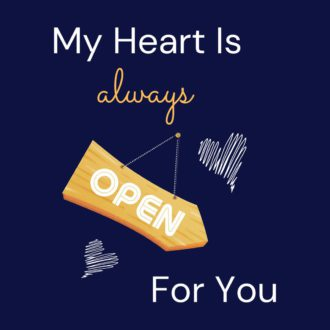 434e2947 my heart is always for you navy blue
