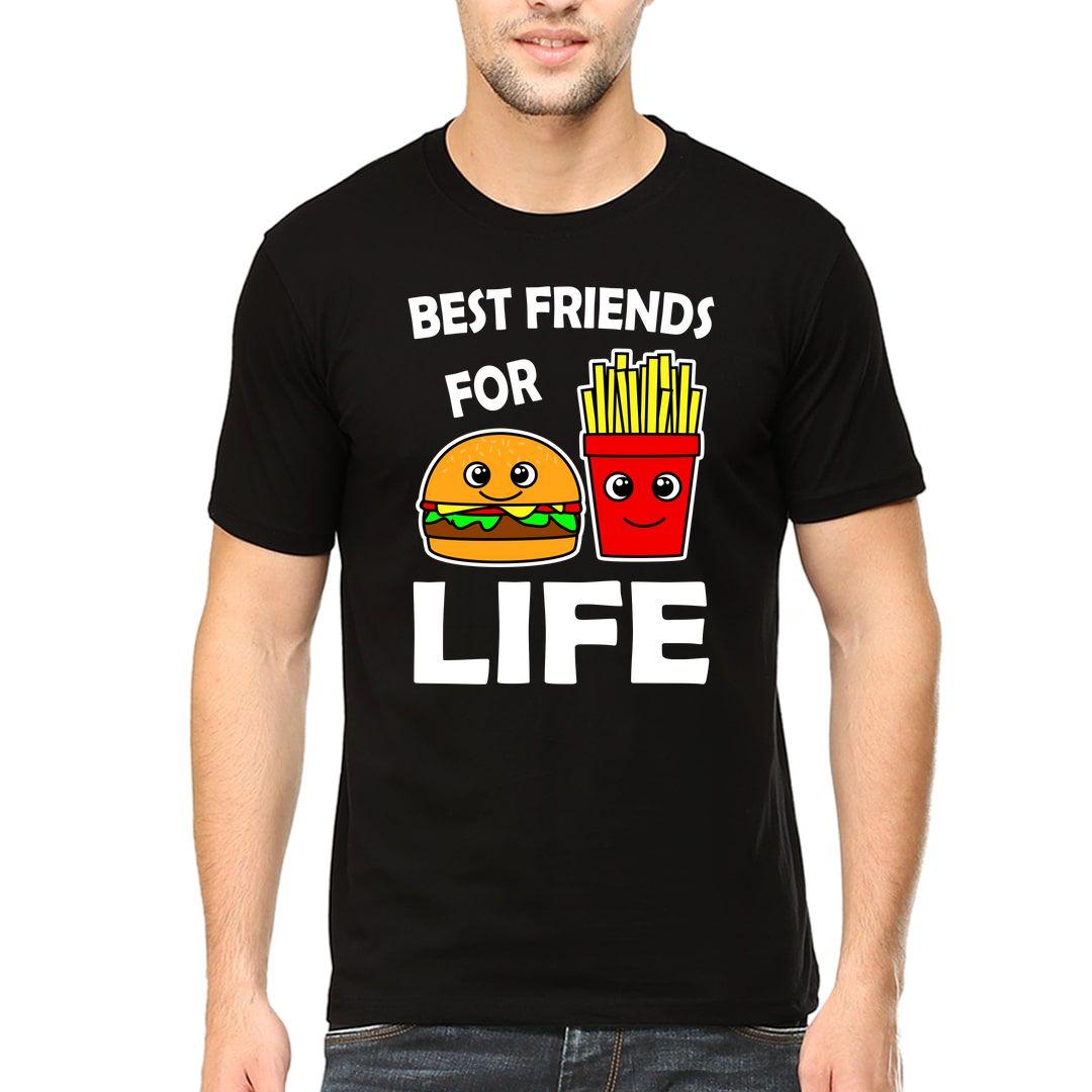 4db9ea99 Best Friends For Life Men T Shirt Black Front