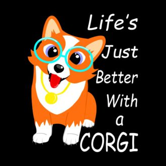 c4fa8868 lifes just better with a corgi dog lover black