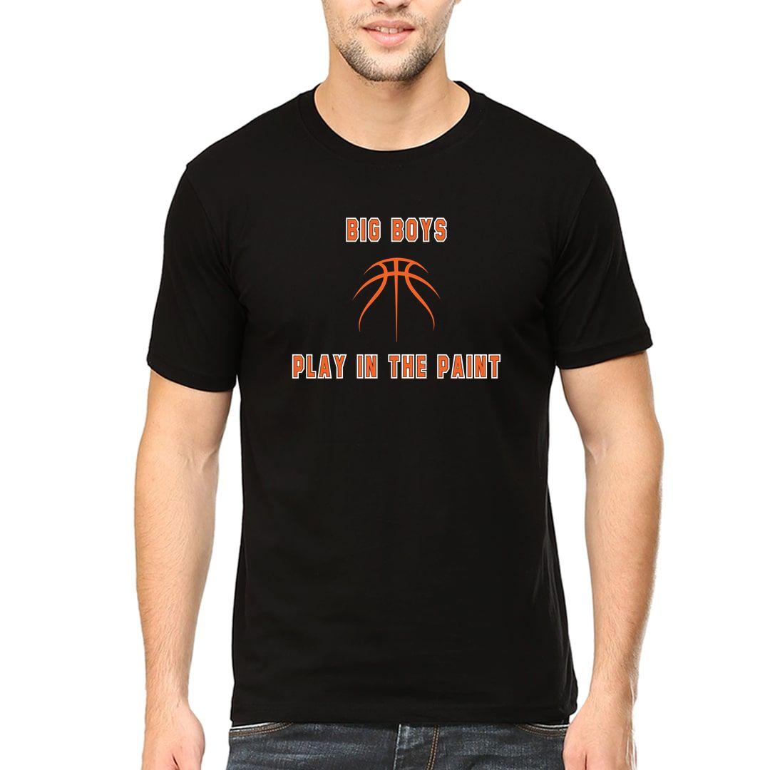00482c9b Big Boys Play In The Paint Basketball Men T Shirt Black Front