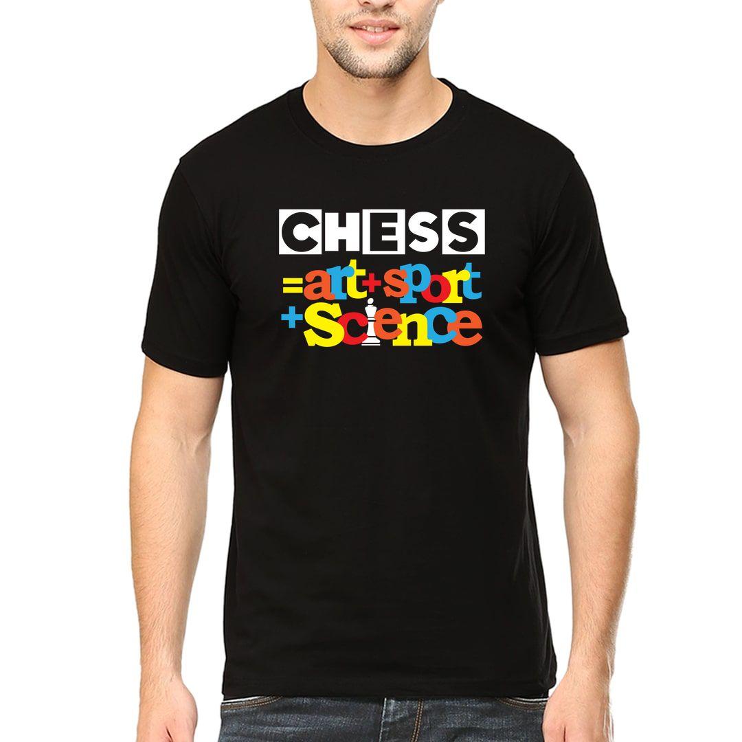 05195e49 Chess Art Sport Science Men T Shirt Black Front