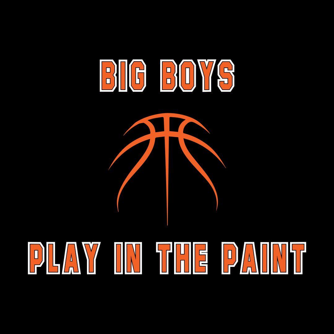 0662c84b Big Boys Play In The Paint Basketball Black