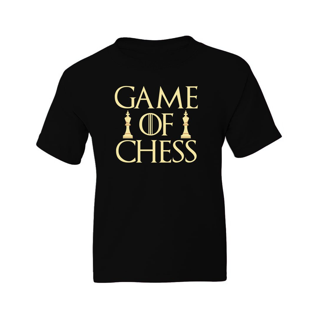 1578ce67 Game Of Chess Kids T Shirt Black Front