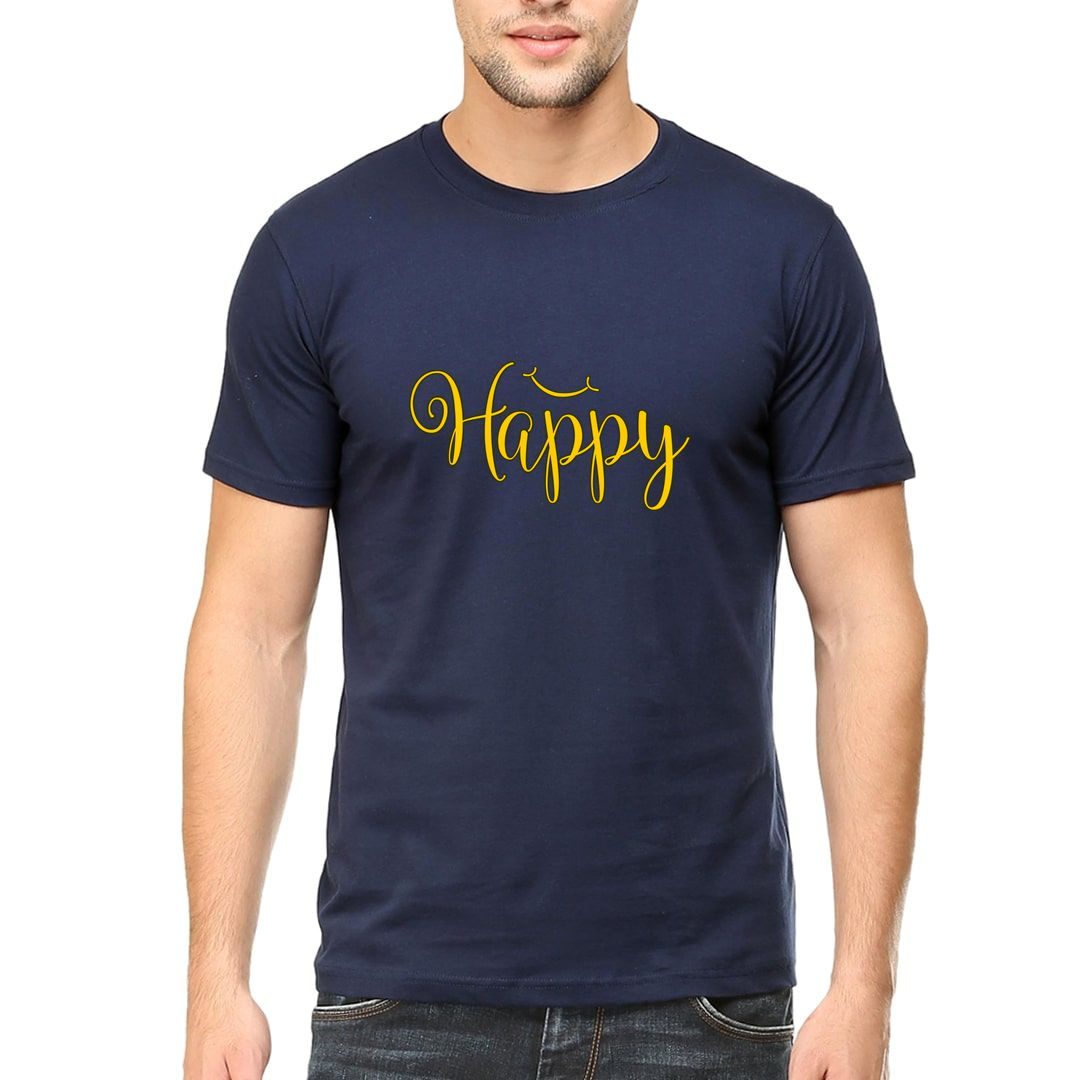 1cb909d4 Happy Men T Shirt Navy Front