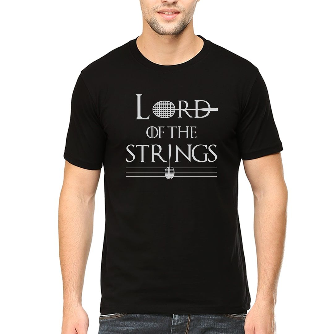 1d0f74db Lord Of The Strings Men T Shirt Black Front