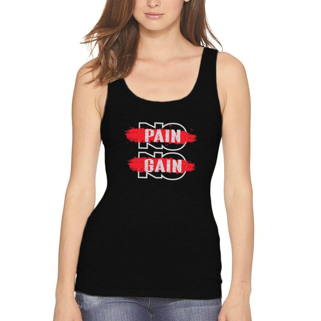 1dc5ad00 No Pain No Gain Women Tank Top Black Front