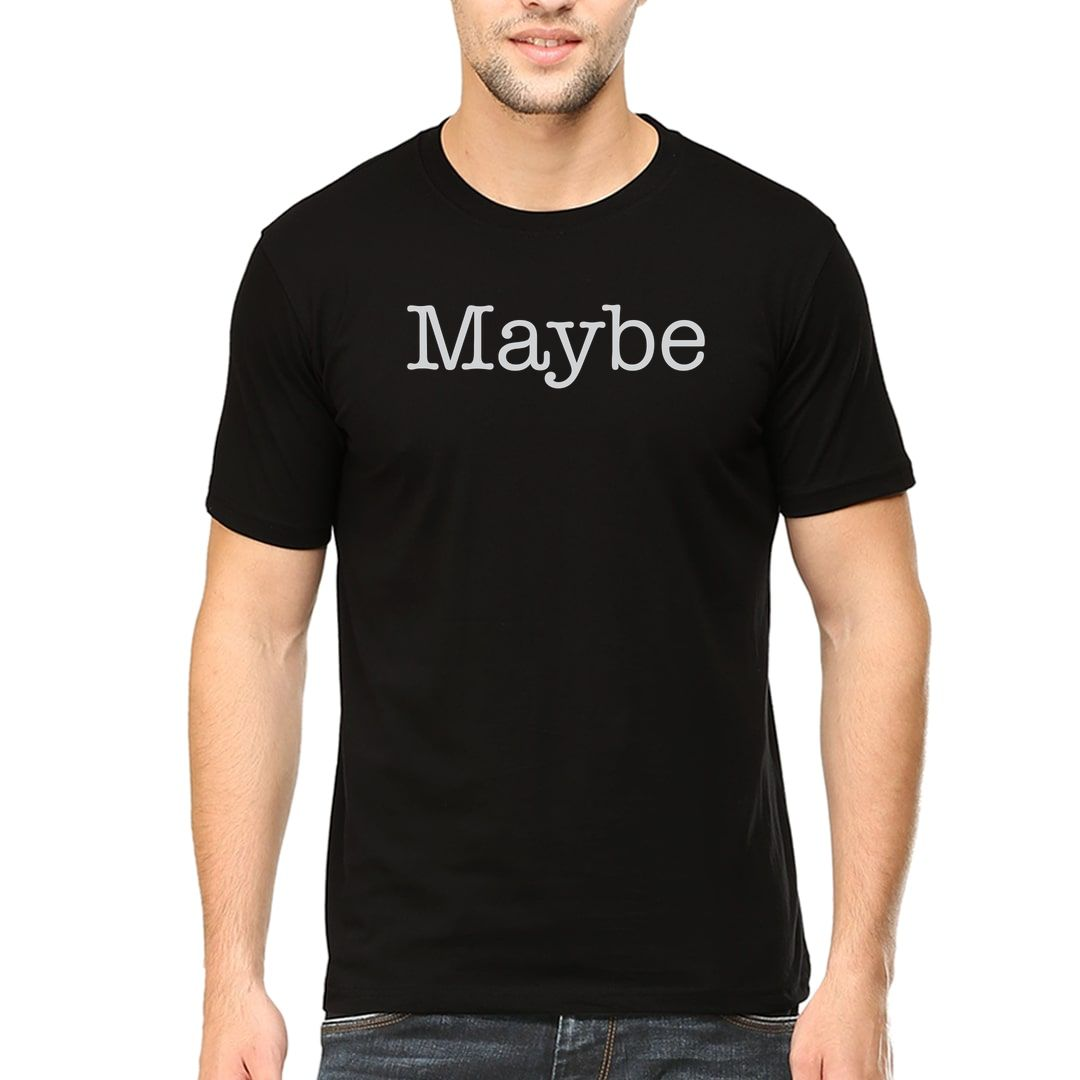 262e30f7 Maybe Men T Shirt Black Front