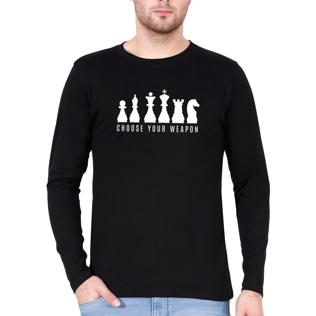 350ea0da Choose Your Weapons Full Sleeve Men T Shirt Black Front