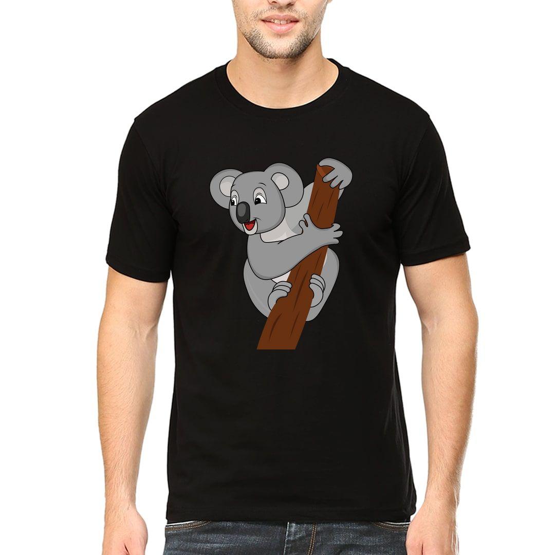 400f46d4 The Happy Koala Men T Shirt Black Front