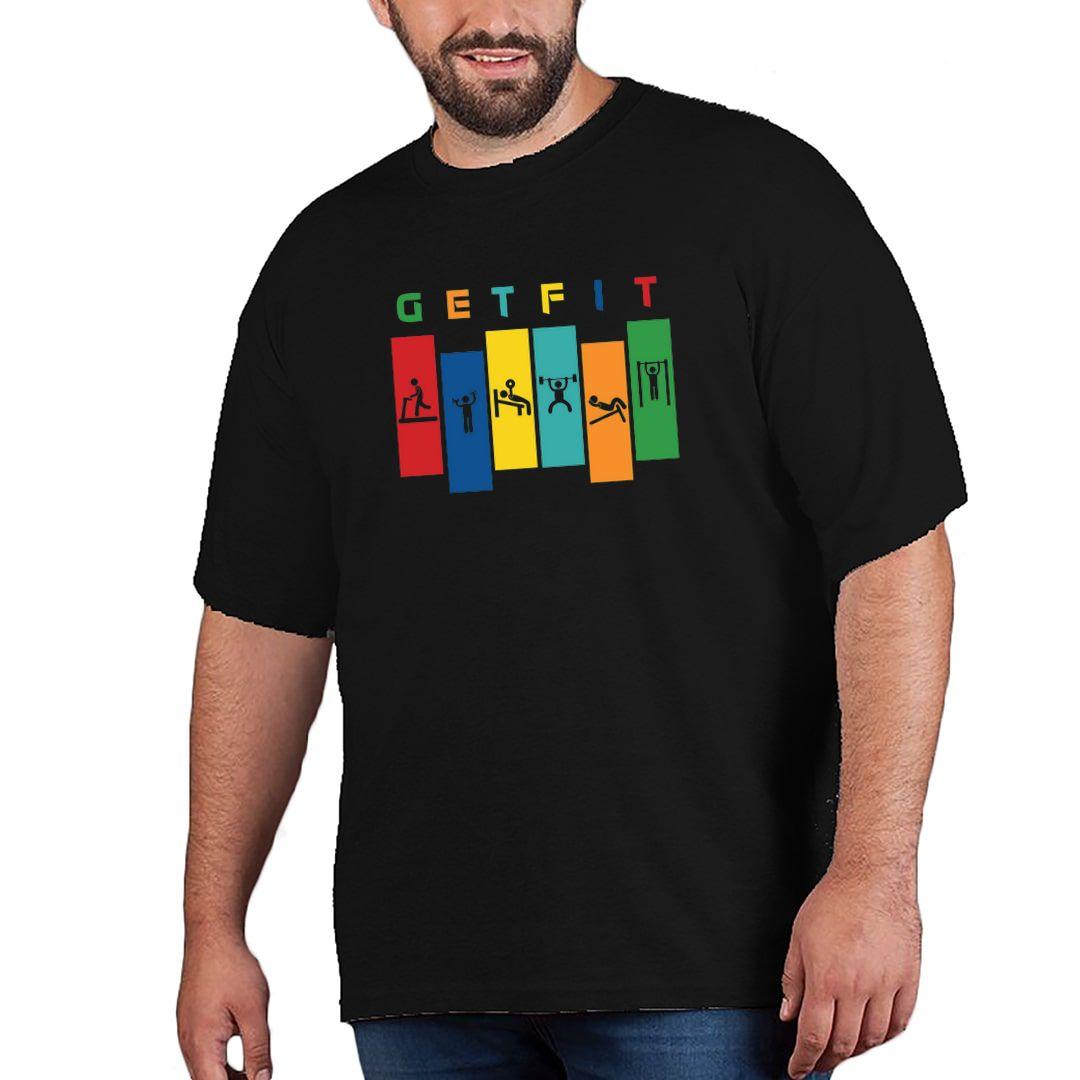 477875e8 Get Fit Plus Size T Shirt Black Front
