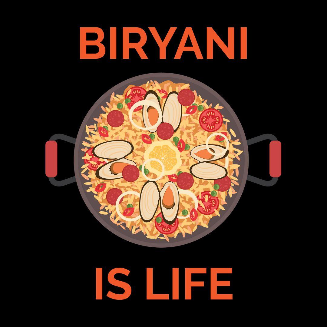 4c216713 Biryani Is Life Black