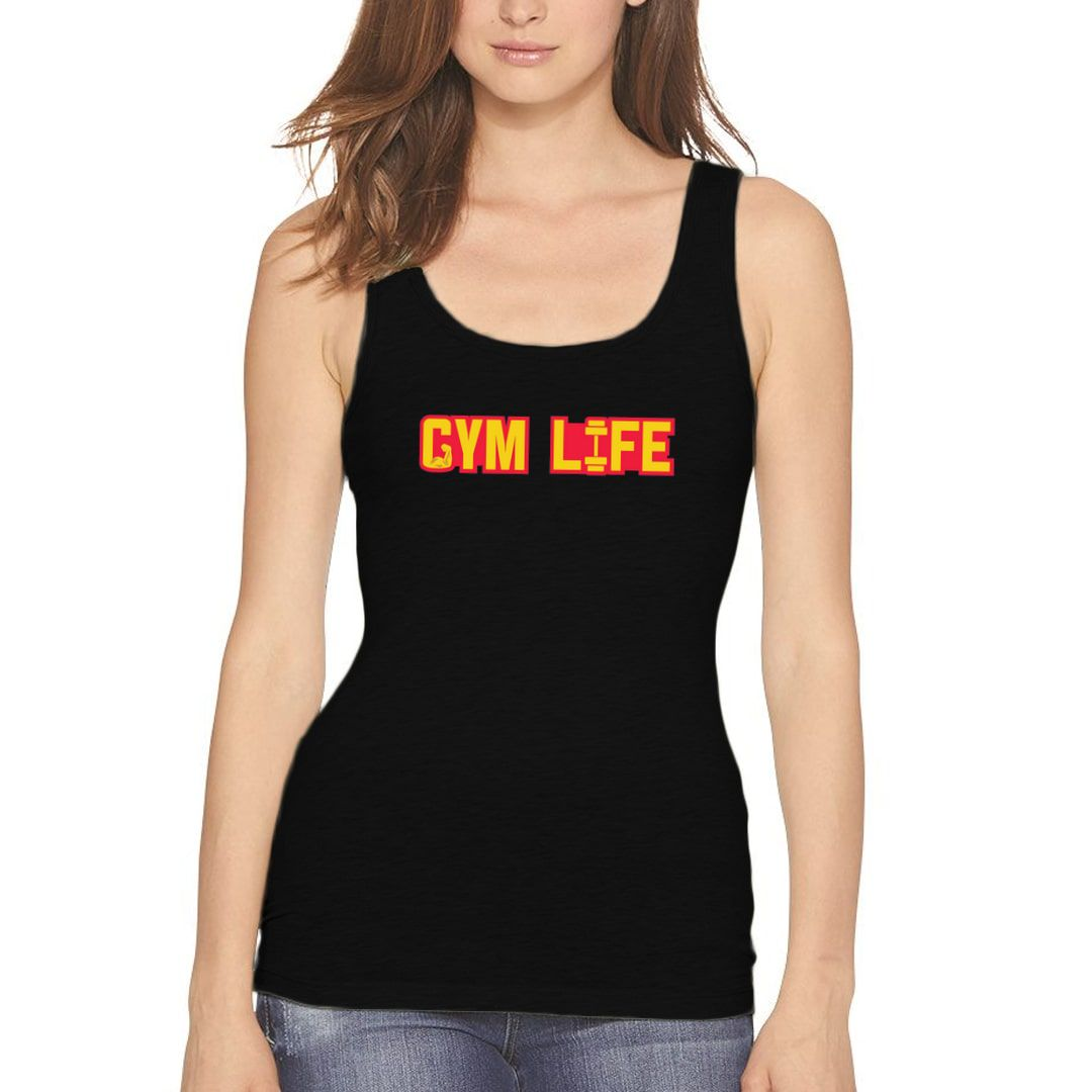 654ef73d Gym Life Women Tank Top Black Front