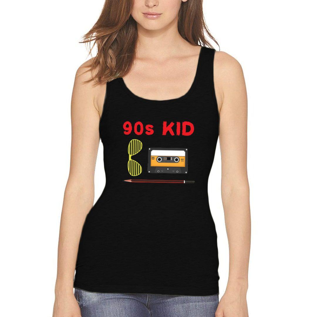 68c6a564 90s Kid Women Tank Top Black Front