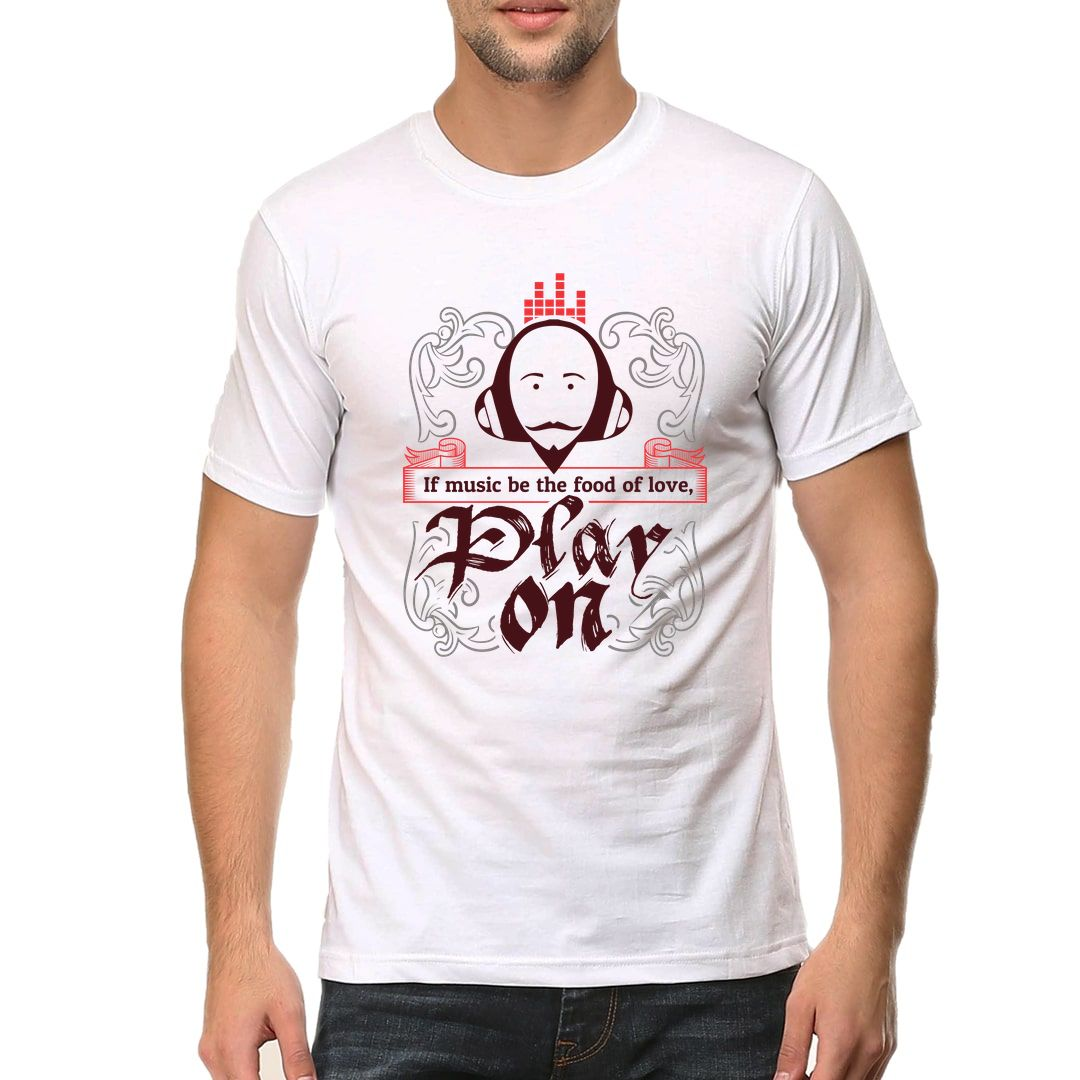 6a884011 Play On Men T Shirt White Front