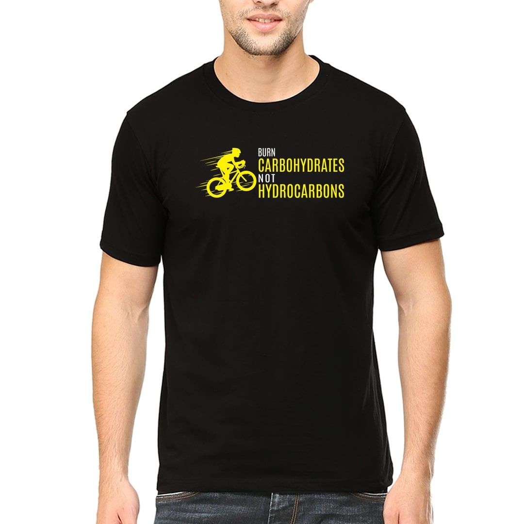 74bf18b8 Burn Carbohydrates Not Hydrocarbons Men T Shirt Black Front