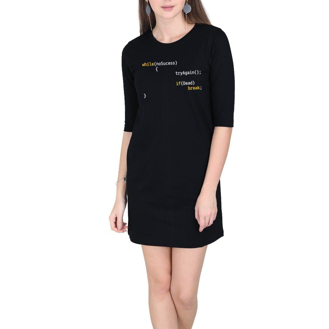 799a1c16 Success Algorithm Women T Shirt Dress Black Front