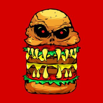 7aa5e52c funny scary cheese burger red