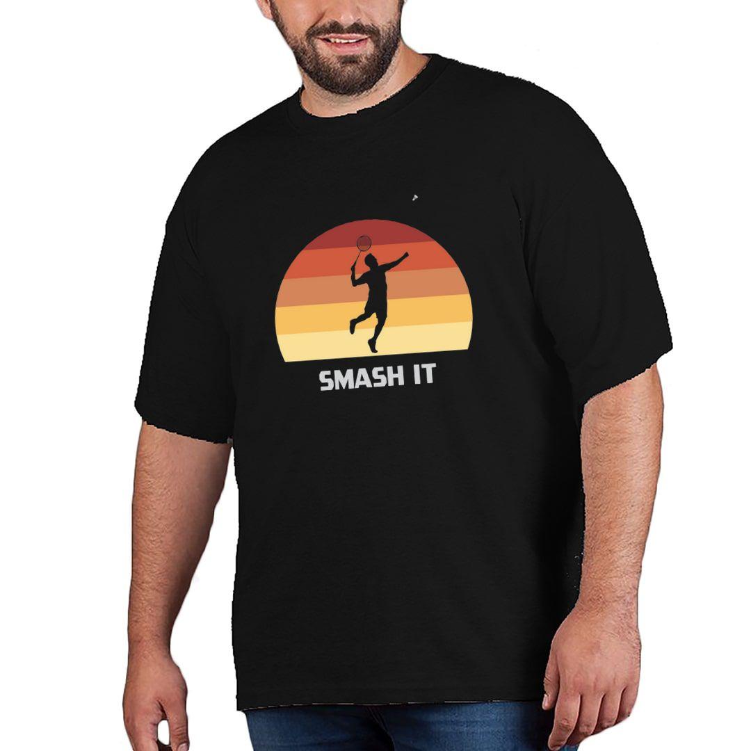 8460bb8e Smash It Retro Vintage Style Plus Size T Shirt Black Front