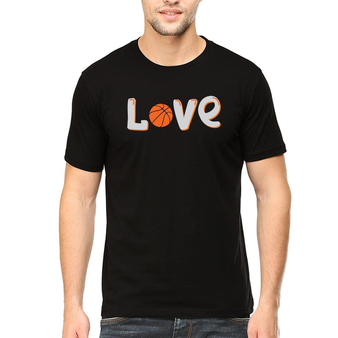 88118822 Love Basketball Men T Shirt Black Front