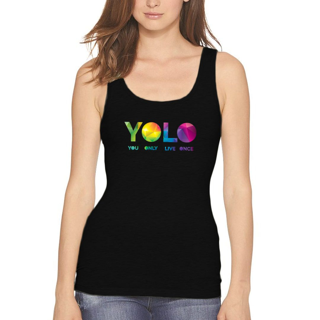 89cbbf3b Yolo – You Only Live Once Women Tank Top Black Front