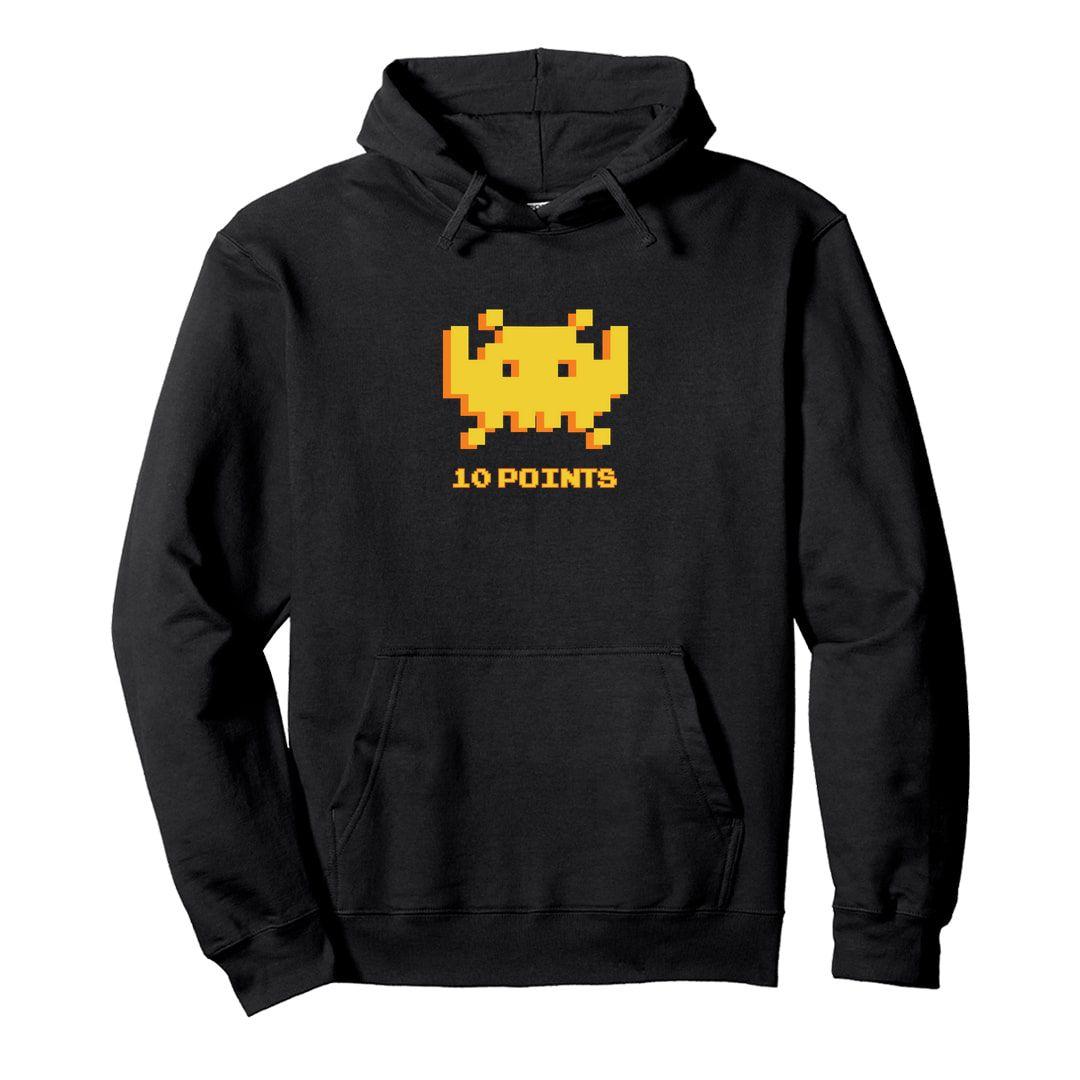 8ab74db3 8 Bit Gamer Unisex Hooded Sweatshirt Hoodie Black Front