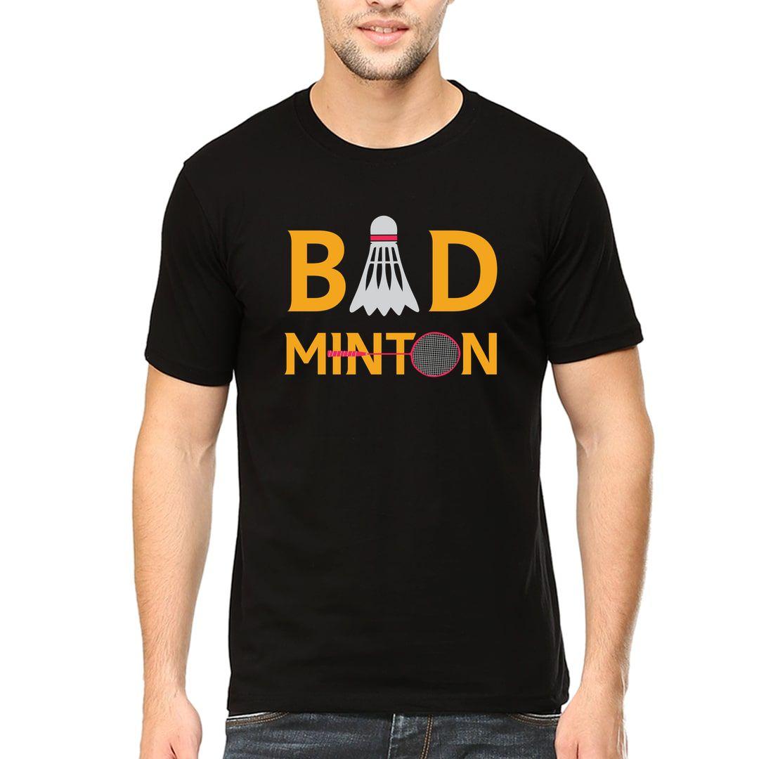 95ccb75b Bad Minton Men T Shirt Black Front