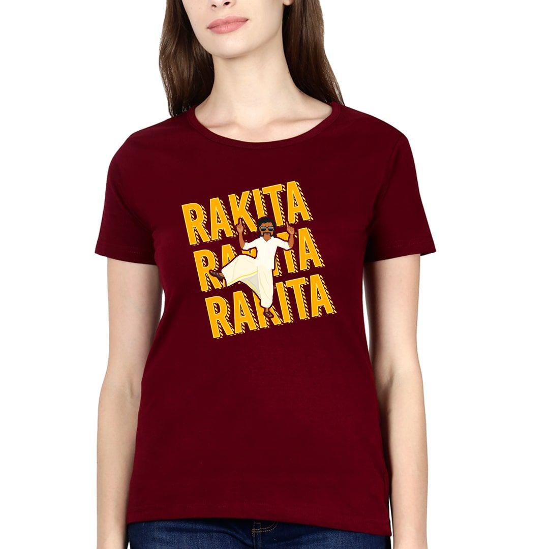 A561cf52 Rakita Rakita Rakita Women T Shirt Maroon Front
