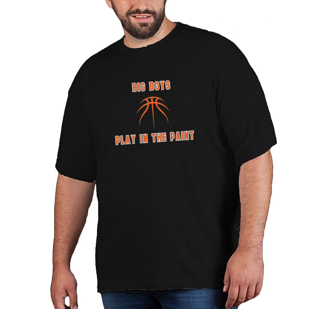 Acd313fc Big Boys Play In The Paint Basketball Plus Size T Shirt Black Front