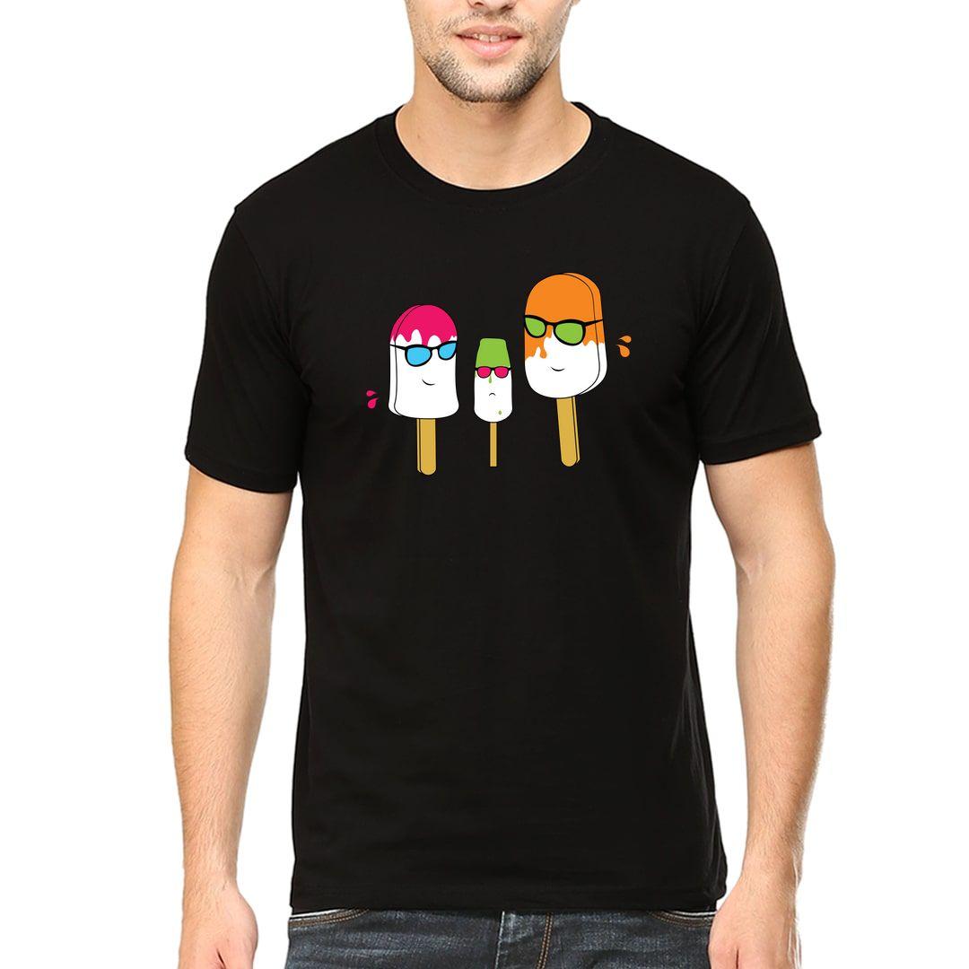B255d736 Cool Ice Cream Men T Shirt Black Front