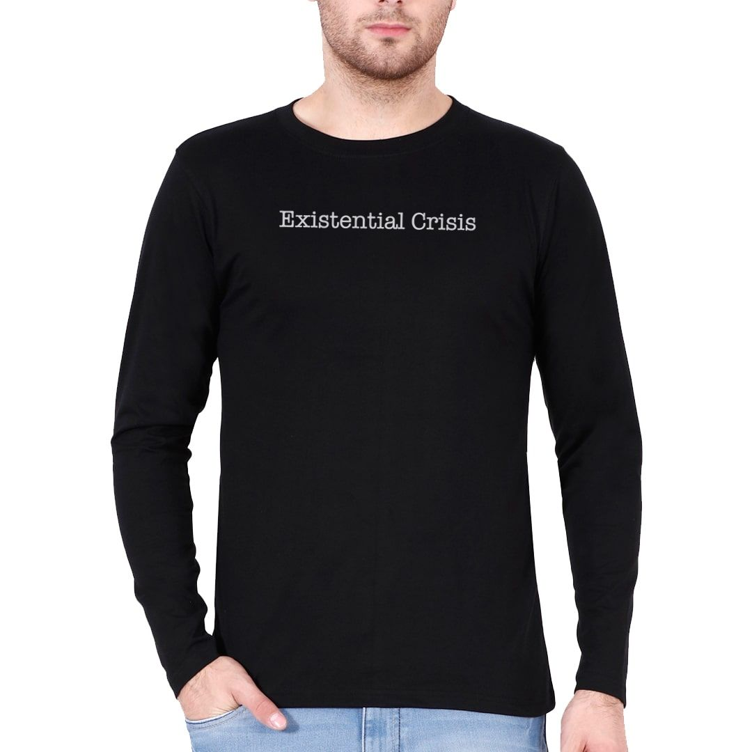 B75ad6aa Existential Crisis Full Sleeve Men T Shirt Black Front