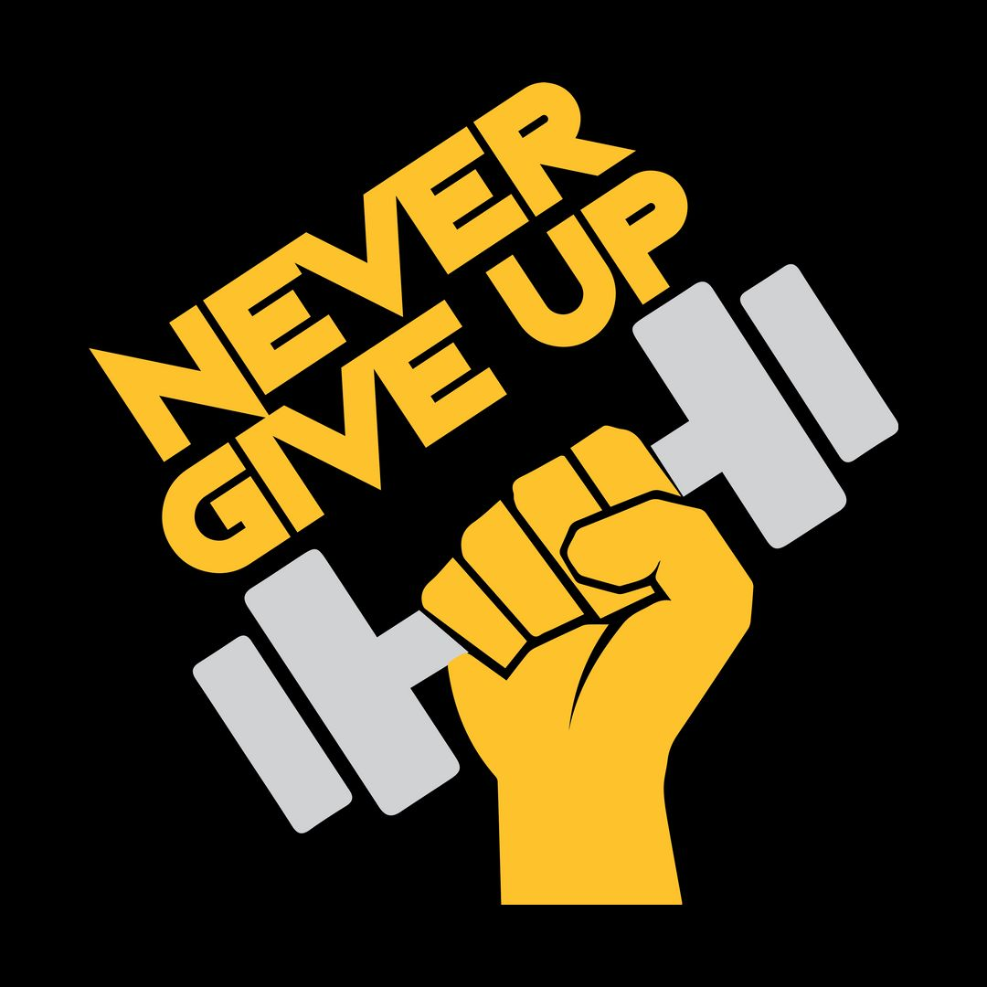 Bd654a74 Never Give Up Black